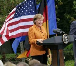 Merkel in Washington - White House photo by Eric Draper